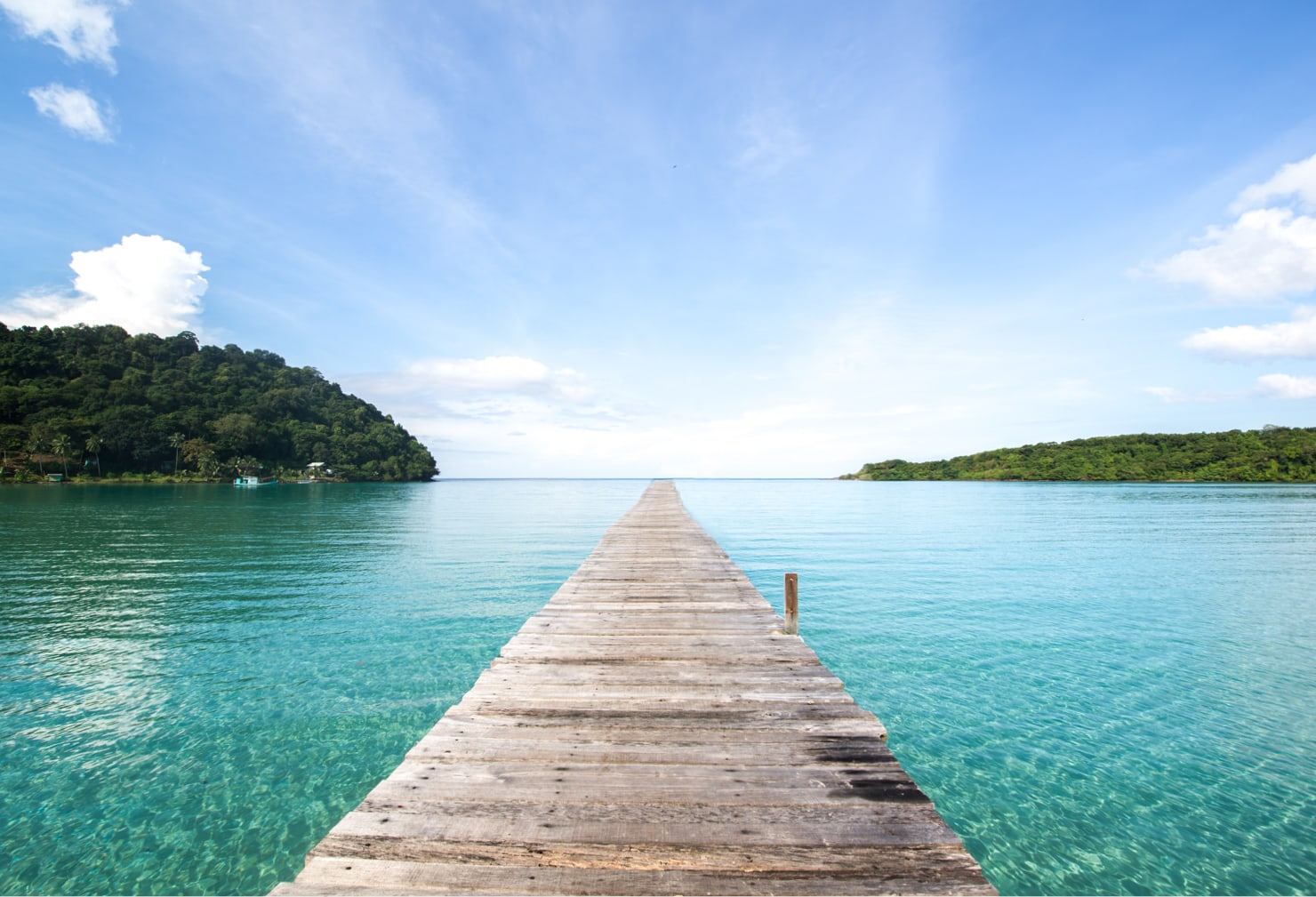 Brücke ins Meer